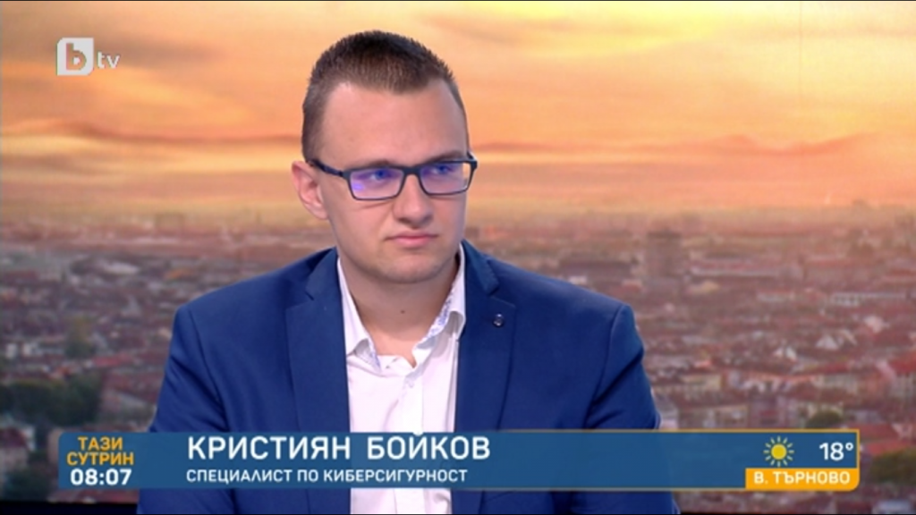Кристиян Бойков в студиото на bTV