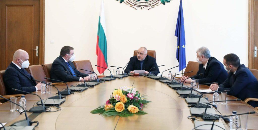 премиерът Борисов на среща с представители на Националния оперативен щаб