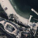 """Скрийншот от Google Earth - новото рибарско пристанище """"Карантината"""" във Варна (вляво)"""